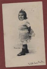 C.CLAYETTE, photographer. W Hershaw. Thurso 1903  Girl   vintage postcard st171