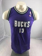 Vintage Milwaukee Bucks #13 Robinson Jersey L Champion NBA Basketball purple