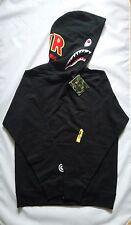 Bape A Bathing Ape Shark PONR Color Black Sweat Pullover Hoodie Man
