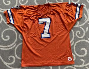 Vintage John Elway #7 Denver Broncos Wilson NFL Football Jersey Size XL