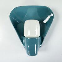 Wand Lampe Systral Wagenfeld Lindner 6459 NOS Keramik taubenblau neuwertig 1970