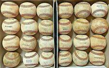 2 dozen used baseballs (all leather baseballs, Mostly MILB & MLB)