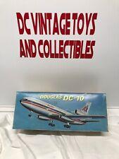 VINTAGE Antique Tin Toy#Hong Kong Douglas DC10 Passenger Jet Boxed