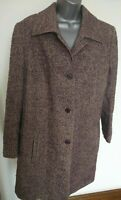 WOMENS EUGEN KLEIN SIZE UK 16 PURPLE SMART/CASUAL WOOL WINTER OVERCOAT JACKET