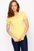 Ex TopShop smart top,yellow, NWOT, size10