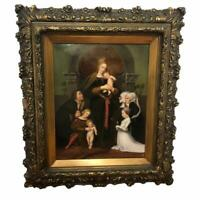 19th Century Antique KPM Porcelain Plaque Darmstadt Madonna Painting