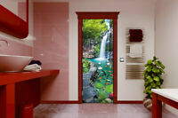 3D Garden Landscape Self adhesive Bedroom Door Sticker Mural Photo Wallpaper