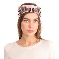 RRP €860 GUCCI Silk Turban Headband Rhinestones & Beads Hands Made in Italy