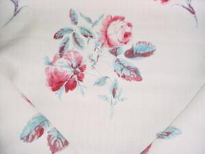 Lee Jofa BFC-3661.137 Simsbury Auqa / Pink Printed Drapery Upholstery Fabric