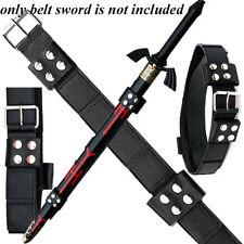 Link Hyrule Sword Leather Belt Strap BLACK (EW-094BK)