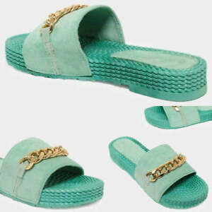Womens Slip On Mules Comfy Sliders Summer Sandals Flat Beach Ladies Shoes Sizes