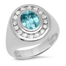 Certified 5.00cttw Zircon 1.00cttw Diamond 14KT White Gold Ring
