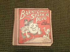 BARNEY GOOGLE AND SPARK PLUG 3 CUPPLES & LEON 1925 PROTO COMIC BOOK SEE PICTURES