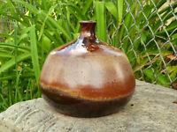 Mid Century Modern Studio Pottery Vase Germany Kubicek Vintage Fat Lava Vase