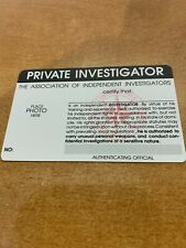 Novelty Private Investigator Identification Card