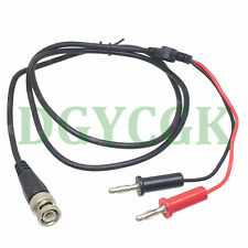 Cable Bnc male to 4mm dual paddy banana bullet plug Oscilloscope test probe 1M