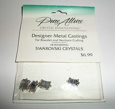PURE ALLURE DESIGNER METAL CASTINGS SWAROVSKI CRYSTAL BRACELET NECKLACE FINDINGS
