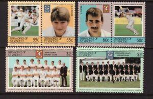 Grenadines of St Vincent 1985 Cricket Players set MNH mint stamps