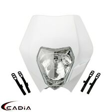 Dirt Bike White Headlight Head Light Lamp Fairing For RMZ RM KX SX KTM KLX WR CB