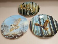 W L George Collector Plate Spirits Of The Sky Series Set Of 3 Cynthia Fisher Owl