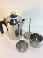 ARCOSTEEL 18/10 Stainless Steel 8 Cup Stove Top Percolator Coffee Pot