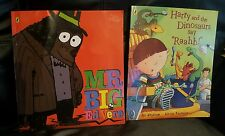 """X2 PUFFIN Paperback Books - MR BIG ED VERE & HARRY AND THE DINOSAUR SAY """"RAAHH!"""""""