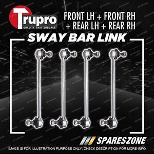 4 Pcs Trupro Front+Rear Sway Bar Links for Ford Laser KQ Sedan Hatch 265MM 01-02