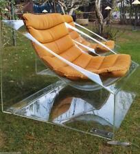 Da museo coppia poltrone vintage anni 70 plexiglass 70's plex sedia armchair