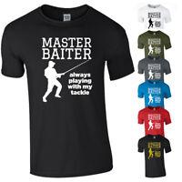 MASTER BAITER Tshirt Tee Top Funny Fishing Fisherman Tackle Bait Joke Gift NEW
