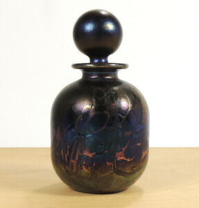 PHOENICIAN MALTESE PEACOCK LUSTRE GLASS SMALL SCENT BOTTLE