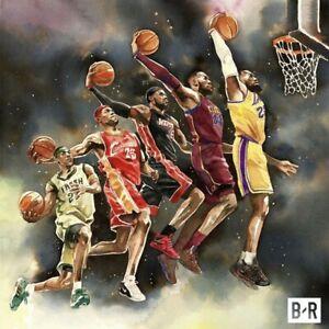 "Lebron James Poster 12x12"" 20x20"" MVP Basketball Art Silk Print"