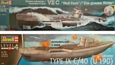 Revell 1/72 U-Boot U-Boat Submarine Sub New Plastic Model Kit 1 72