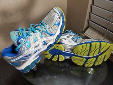 Asics Gel-Nimbus 16 Womens Size 7.5 Silver/White/Blue Running Training Shoes