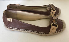 NEW! ETIENNE AIGNER UNICE BROWN FLATS ESPADRILLE SANDALS SHOES 7 37 $79 SALE
