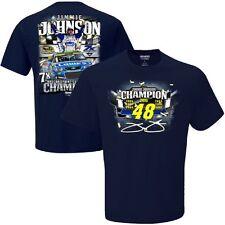 NASCAR Jimmie Johnson #48-2016 Sprint Cup Series Champion T-Shirt-Navy, Large