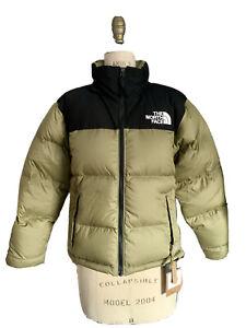 NWT RARE The North Face Women's Eco Nuptse Small Tumbleweed Green Puffer Jacket