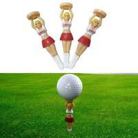 3 Pcs Plastic Golf Tee Practice Training Novelty Joke Nude Golf Tools Tees I4N5