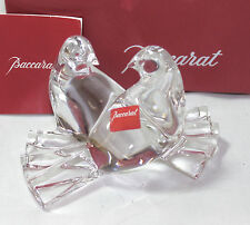 Baccarat St Valentin LOVING DOVES Birds **NIB** w/sticker & pamphlet, MSRP $245