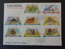 Tansania FDC 1988 - Dinosaurier u.a.