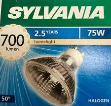 Sylvania halógena Hi-spot es63 230v 75w gu10 50 ° cálida White regulable lámpara