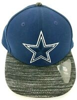 New Era 9Fifty Dallas Cowboys Navy Blue & Gray Visor OSFM Snapback NFL Hat VGUC