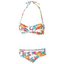 Fat Face Bandeau Floral Swimwear Bikini Sets for Women