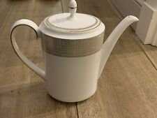 BY VERA WANG WEDGEWOOD FINE BONE CHINA COFFEE POT GLIDED WEAVE TABLEWARE
