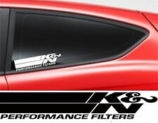 K & N FILTER JDM STICKER Car Window Bumper Vinyl Sponsor Decal