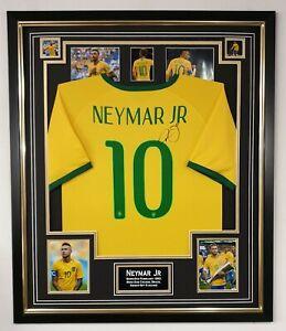 BRAZIL NEYMAR Signed Shirt Autograph JERSEY Display *** AFTAL DEALER