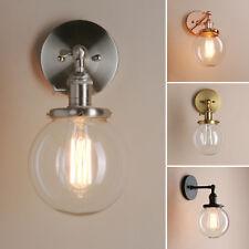 "5.9"" GLOBE GLASS SHADE ANTIQUE INDUSTRIAL WALL LAMP SCONCE LOFT DECOR WALL LIGHT"
