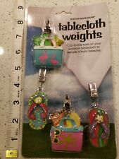 2007 Boston Warehouse Beach outing Flip Flops Tablecloth Weights Set of 4 New