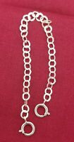 "SOLID STERLING SILVER 3.2mm EXTENDER / SAFETY CHAIN 1/2""-12""  W/ SPRING RING"