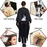 Pro Black Salon Hair Cut Hairdressing Hairdresser Barbers Cape Gown Cloth B1X3