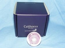 Caithness Glass Paperweight New Baby Girl Teddy Bear Christening Present Gift